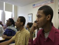 Photo of students in class
